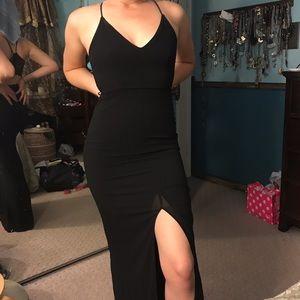 Lulu's Black Tight Mermaid Floor-length Gown